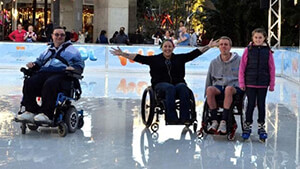 Being a wheelchair user doesn't mean you can't enjoy winter activities!